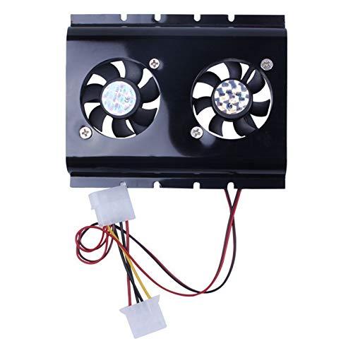 CHENHUA Ventilador de enfriamiento de Alto Rendimiento Negro 3.5 SATA Disco Duro IDE HDD 2 disipador térmico del Ventilador for PC