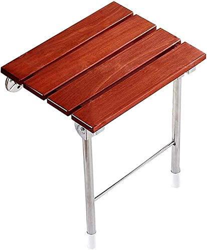 HYY-YY Taburetes de baño plegables para montar en la pared y sillas de ducha plegables de madera, banco de madera para discapacitados, asiento de ducha antideslizante de 150 kg