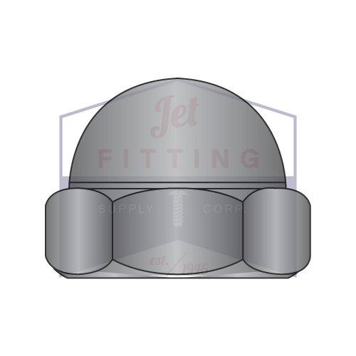1/4-20 Closed End Acorn Nuts | Low Crown | Steel | Black Oxide (Quantity: 2000)