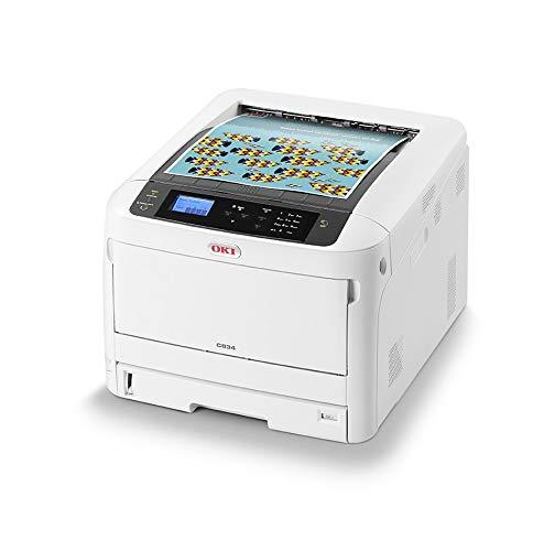 OKI C834nw Farbdrucker (Drucken, A3, 36 Seiten/Min., 1.200x600 dpi, LAN, WLAN, Duplexdruck optional, 5.000 Seiten/Monat, max 75.000 Seiten)
