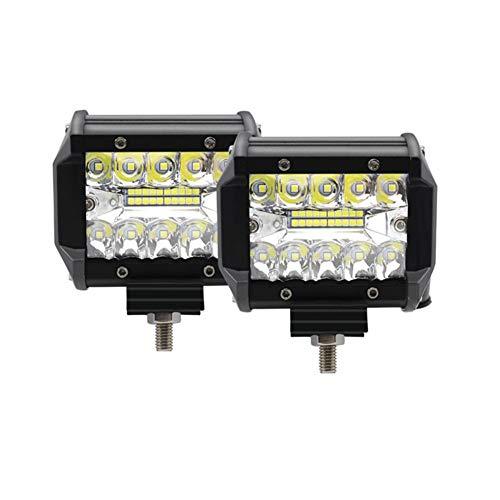 WPFC 4-Zoll-LED-Arbeits-Licht Bar, Off-Road-Scheinwerfer IP67 wasserdichte Leuchten Für ATV UTV SUV Jeep Boot Fahren Lampe, 2 Pc