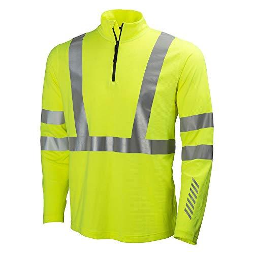 Helly Hansen Workwear Warnschutz Langarmshirt Esbjerg Polo Zip Longsleeve Shirt EN471, 4XL, gelb, 75019