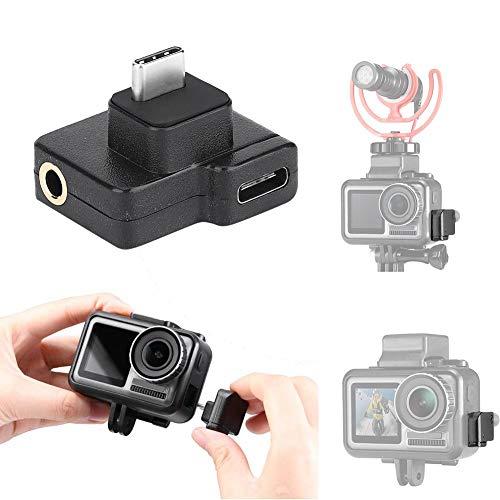 Mugast Adattatore Audio di Ricarica con Ingresso vocale, Funzione di Ricarica e trasferimento Dati per videocamera Sportiva Osmo/Action