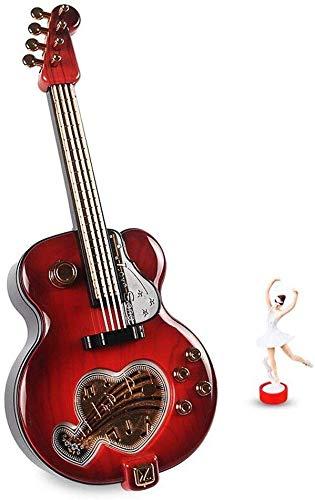 LLDKA Europese doos, gitaar Creative Music Box Plastic Sieraden Geschenkdoos Valentine muziek cumpleañosr