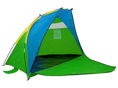 GigaTent Sun Shelter Beach Cabana Tent – Instant Set Up, UV Resistant, Waterproof - 7' x 4' with Mesh Windows - Zipper Door Doubles as Floor Extension
