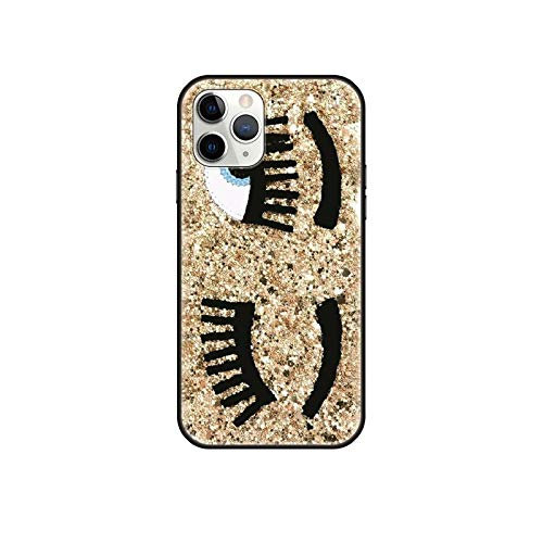 Funda de teléfono para iPhone 12 Mini 11 Pro XS Max X XR 6 6S 7 8 Plus 5 5S SE 2020 negro cubierta trasera caliente Chiara Ferragni Eyes-G3-iPhone 11