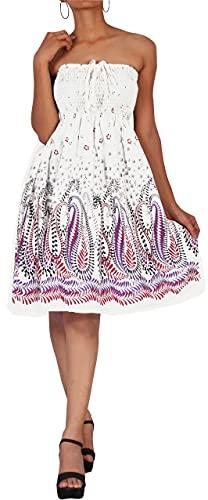 LA LEELA Women's Halter Neck Basic Slim Elastic Top Short Tshirt Dresses L-XL Purple_I865