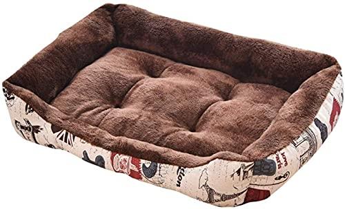 IUYJVR Cama para Mascotas Cama para Perros de Primera Calidad, Suave Saco de Dormir para nidos para Mascotas, cojín para la casa, Almohadilla, Cama para Perros Muy Suave, Funda extraíble para Perro
