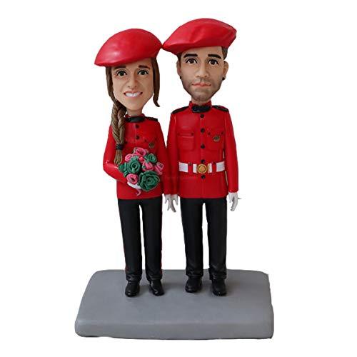 zwei Personen Airline Stewardess Figuren benutzerdefinierte Bobblehead Company von Turui Figuren personalisierte Skulptur handgeschmissen