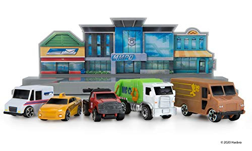 Micro Machines World Packs, City Center - Features 5 Highly Detailed Vehicles: Taxi, Mail, Tow, Garbage, and Delivery Trucks, Plus Corresponding MM Scene - Collect Them All