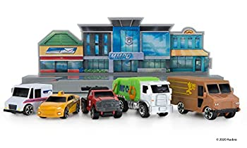 Micro Machines World Packs City Center - Features 5 Highly Detailed Vehicles  Taxi Mail Tow Garbage and Delivery Trucks Plus Corresponding MM Scene - Collect Them All