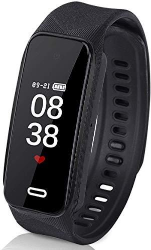 Reloj Espia Cámara de Pulsera Inteligente, Grabadora Oculta Multifunción 1080P HD Mini DVR CAM, Huella Digital Táctil, Negro