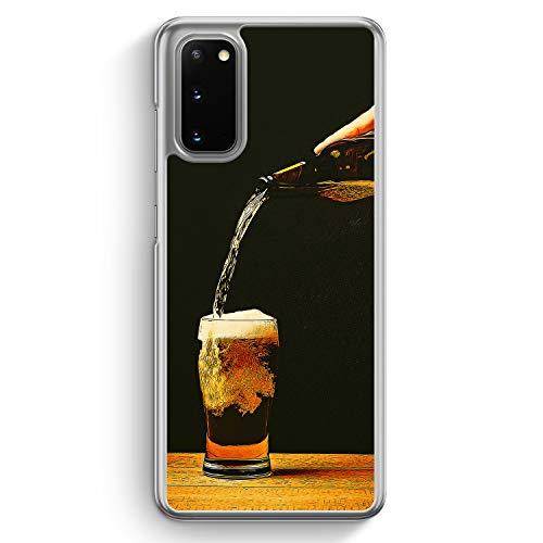 Bierglas Bier - Hülle für Samsung Galaxy S20 - Motiv Design Jungs Herren Männer - Cover Hardcase Handyhülle Schutzhülle Hülle Schale