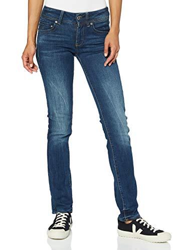 G-STAR RAW Midge Saddle Mid Waist Straight Jeans, Blau (dk Aged 6553-89), 28W / 32L para Mujer