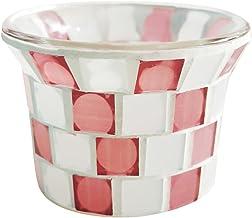 Garneck Jarra de Vela de Vidro Mosaico Castiçal Vazio Copos de Velas Perfumadas Aromaterapia Vela Recipientes de Lata DIY ...