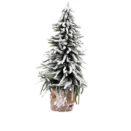 ZSIF Kleine kerstboom, Kerstversiering Linnen Snowboard Boom, Mini Kleine Desktop Flocking Ceder Kerstboom Scene Decoratie Ornamenten
