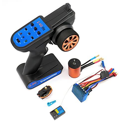 RUIZHI Kit de Actualización sin Escobillas, Motor ESC Receptor Control Remoto Servo Set para Wltoys XKS 144001 1/14 Piezas de Repuesto de Coches RC