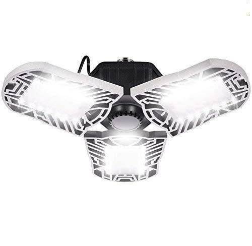 WZTO Motion Sensor LED Garage Light,100W Garage Lights Deformable LED Garage Lighting 10000LM LED Garage Lights Adjustable LED Garage Light for Garage,Basement Workshop(with Sensor)