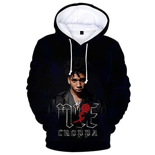 Nle Choppa Hoodie Gradient Sweatshirt with Pocket Hoodies Fashion For Unisex Woman Xx-Large