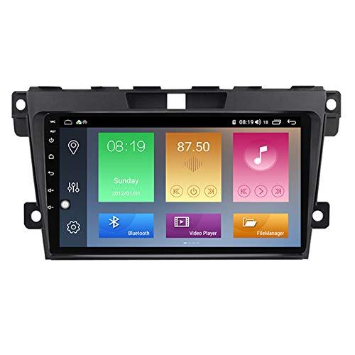 Amimilili Android 9 Radio de Coche estéreo para Mazda Cx-7 2008-2015 Pantalla táctil de 9 Pulgadas Navegación GPS BT USB WiFi Llamadas Manos Libres/FM/SWC +cámara Trasera,M600 6+128g