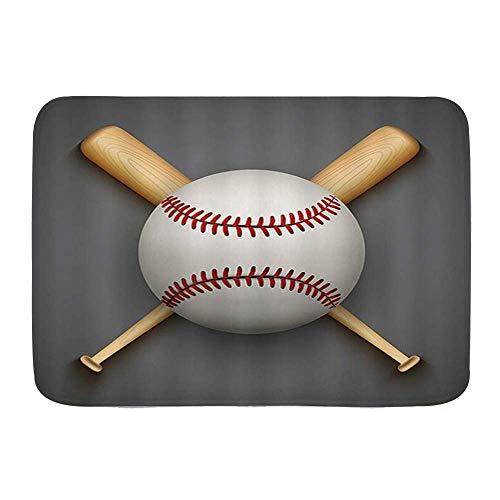 Dfform Alfombra de baño,Pelota de Cuero de béisbol...