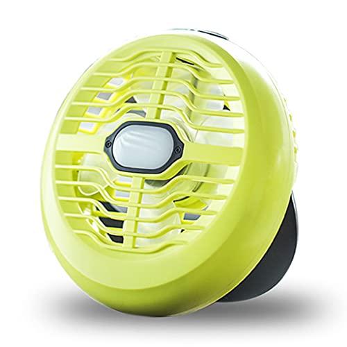 Itlovely Ventilador de camping portátil con linterna LED recargable con batería USB ventilador de escritorio para tienda de campaña al aire libre