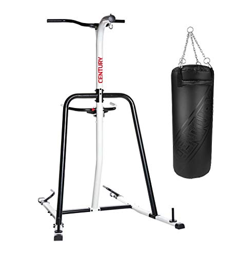 Century Oversized 100 Pound Heavy Bag with Fitness Training Station Bag Stand for Boxing, Martial...