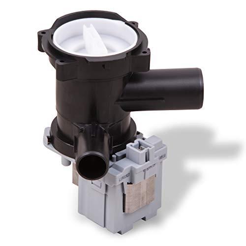 Ablaufpumpe Laugenpumpe Magnettechnikpumpe Pumpe Ersatz für Bosch 00145787 Wasserpumpe mit Pumpenkopf Sieb für Waschmaschinen