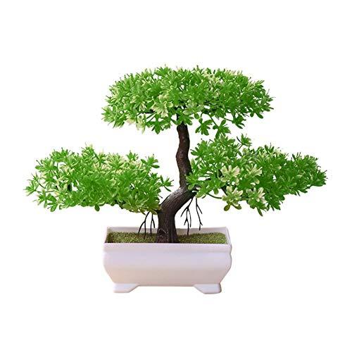 LiféUP Bonsai Artificial en Decorativo En Maceta Seguro Saludable No Tóxico Ambientalmente Flor Adornos Simulación Bonsai Árbol Pequeño Decoración del Hogar