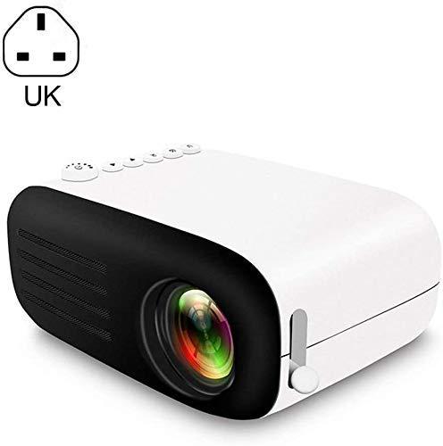 Mini Proyector Multimedia Full HD 1080p de vídeo de bolsillo proyector 7000 lúmenes a casa mini portátil de mano LED ayuda del proyector HDMI AV puertos USB y la tarjeta del TF for PC teléfono intelig