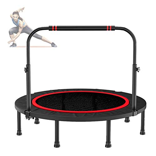 Ycrdtap Premium Bungees Mini Trampolines, 40' Home Cardio Fitness Rebounder, Indoor Outdoor Mini Jumper with Handrail, Max Weight Capacity 300Kg