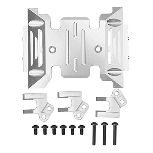 Eddwiin Base de instalación de la Placa de transmisión del patín Central de aleación de Aluminio para Axial SCX10 III AXI03007 ( Color : Silver )