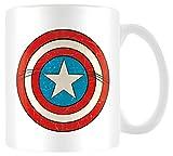 Marvel Retro - Taza Captain America Shield, 320ml