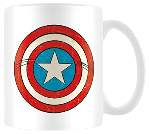 Marvel Retro - Taza Captain America Shield, 320ml