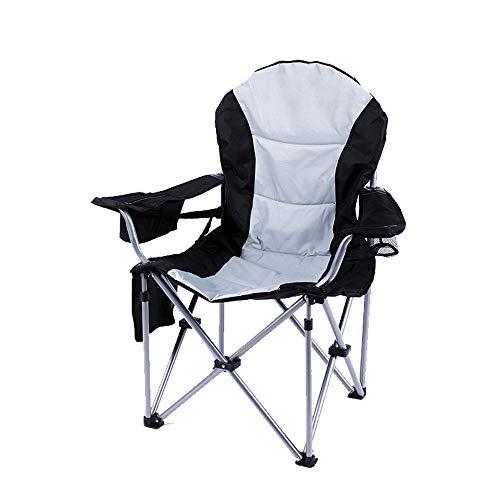 ZA Luxe en comfortabele klapstoel, visstoel, kunststudentenkruk, stoel, klapstoel, regiestoel, strandstoel, zeer stevig, slijtvaste oxfordstof, roestvrijstalen houder, multifunctionele