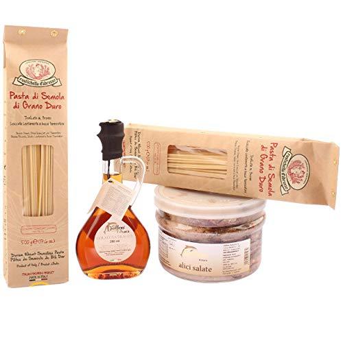 Colatura di Alici + Spaghettoni Rustichella + Alici di Cetara 1,6kg