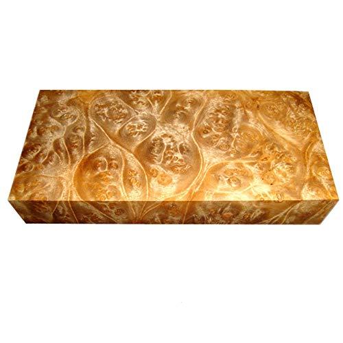 Aibote Burma Golden Camphor Holzmesser Griff Platte Skala Messer Benutzerdefinierte DIY Holz Material für Messer Machen Leere Klingen DIY Carving (12x4x3CM)
