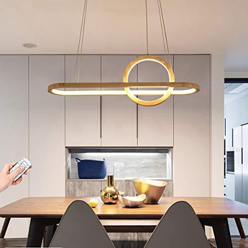 LED Esstisch Pendelleuchte Holz Dimmbar Pendellampe für Esszimmer 90CM Moderne Design neue Hängeleuchte 41W LED Esstischlampe 150cm Höheverstellbar Hängelampe für Wohnzimmer Arbeitszimmer Schlafzimmer