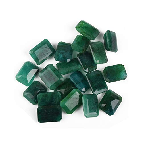 Zambian AAA++ Grade Green Emerald Approx 200 Cts. Fine 20 Pieces Natural Green Emerald Loose Gemstones Lot