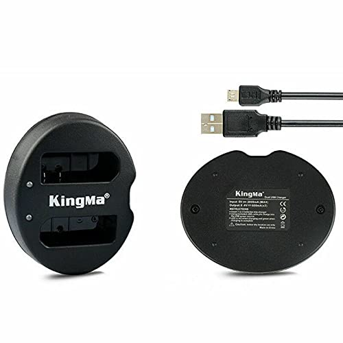 ARCADORA EN-EL14 EN EL14 EN-EL14a USB cargador dual para cámara digital Nikon D5200 D3200 D3100 D5100 D5300