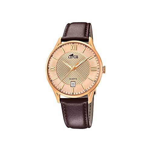Lotus Herren Analog Quarz Uhr mit Leder Armband 18404/B
