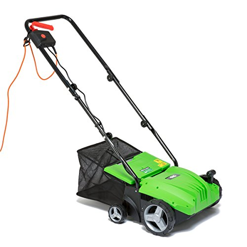 BMC 2in1 Electric Lawn Scarifier Aerator 1500w 320mm with 35L Collection Bag and 10m Power Cable