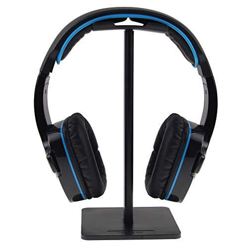 Soporte Auriculares, Universal Soporte para Auriculares y Cascos para Bose Sennheiser, Sony, Bose, Beats, Akg etc. de Aluminio + TPU + ABS, Color Negro