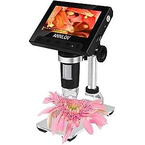 LCD Digital Microscope,ANNLOV 4.3 inch Handheld USB Microscope 50X-1000X Magnification Coin...