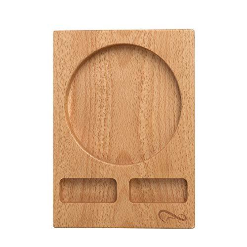 Supark 灰皿専用木製プレート 滑り防止設計 卓上の清潔感とオシャレ感を兼備