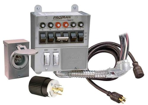 Reliance Controls Corporation 31406CRK 30 Amp 6-circuit Pro/Tran Transfer Switch Kit for Generators (7500 Watts).