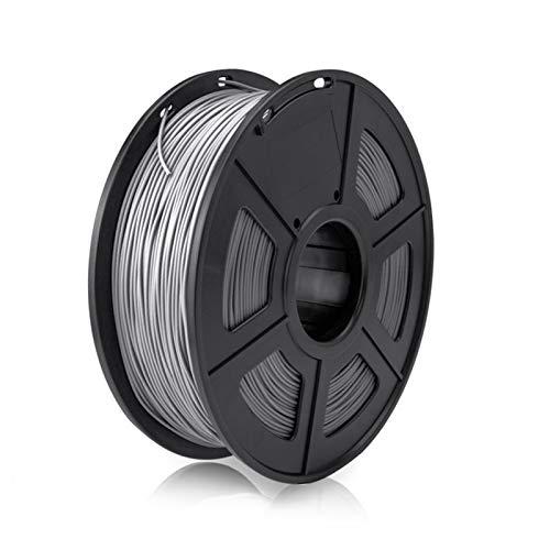 YANGDONG 1kg Mit Spool PLA Plus, 1,75mm 3D-Filament, Für 3D-Drucker-Kunststoff-PLA + 3D-Druckmaterial (Color : PLA Plus Grey)