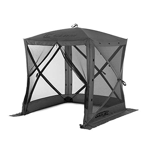 Quick Set 15222 Traveler 6 Foot Portable Outdoor Gazebo Canopy Shelter Screen Tent for Picnics & Tailgating, Gray