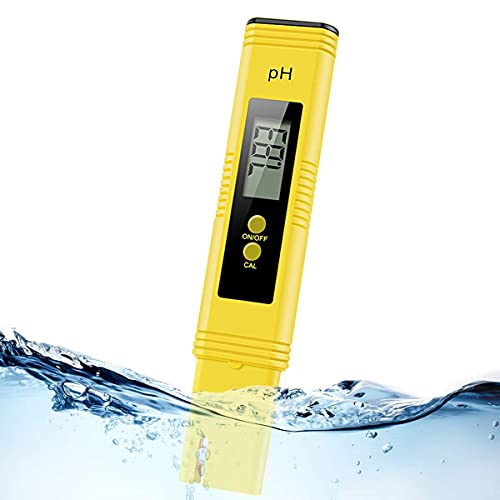 Alysontech Digital pH Meter, Water PH Test Meter with 0.00-14.00ph Measure Range/PH Meter with ATC,Water Quality Tester for Household Drinking Water, Swimming Pools, Aquariums,Hydroponics