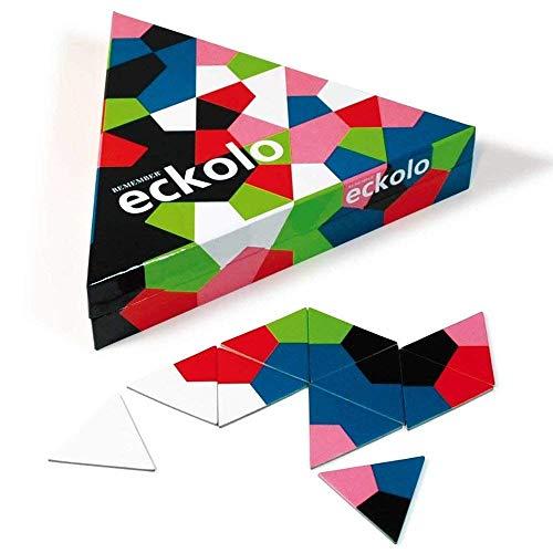 REMEMBER Eckolo – buntes Anlegespiel mit dreieckigen Karten für Erwachsene und Kinder ab 6 Jahren
